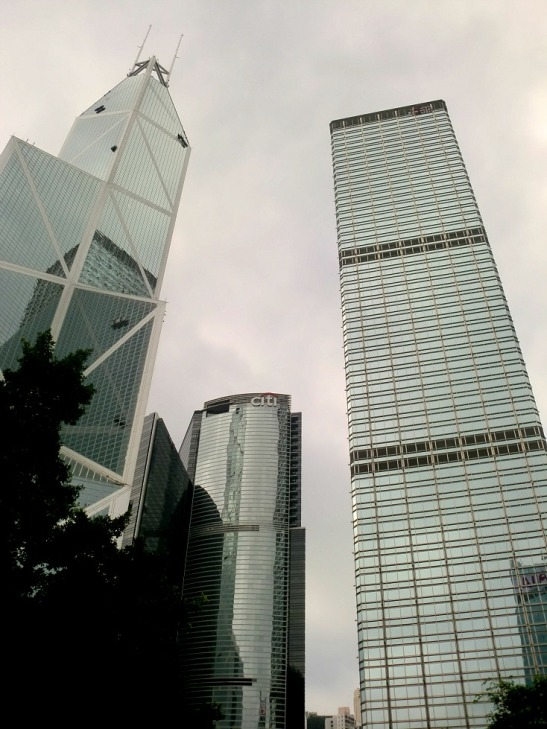 The modern skyscrapers of Hong Kong