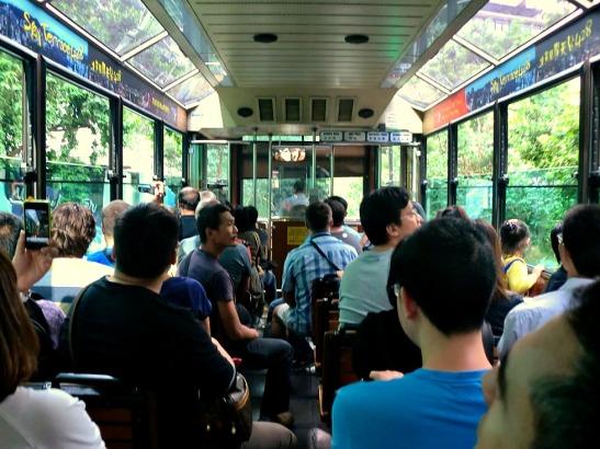 Inside the Peak Tram