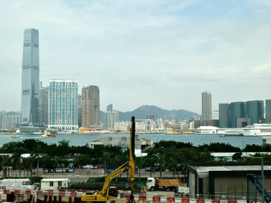 Looking at Kowloon from the IFC mall