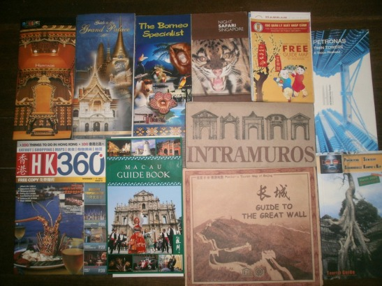 Collection of Travel Maps and Brochures