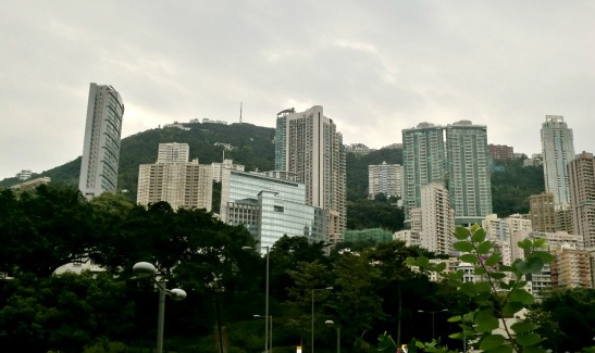 Somewhere up there is the Victoria Peak
